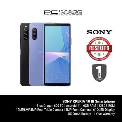SONY XPERIA 10 III Smartphone (SD690, 6GB, 128GB, 12MP, 4500mAh) [ETA DATE: OCT 2021]