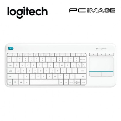 LOGITECH K400 Plus Wireless Touch Keyboard-White