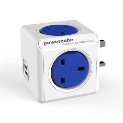 Powercube Original UK Socket With USB 7200 Cobalt Blue (7200 COBALT BLUE)