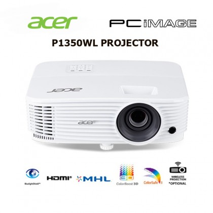ACER P1350WL, DLP, WXGA, 3700LM, CARRYING CASE PROJECTOR
