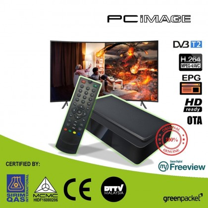 GREENPACKET T-2000 TV DECODER (Free Lifetime Subscription SIRIM & MCMC Certified)