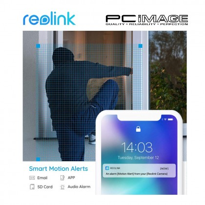 REOLINK RLC410 5MP POE FIXED BULLET SECURITY CAMERA