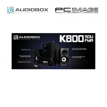 AUDIOBOX K800 BTMI 2.1 SPEAKER WITH BUILD-IN FM RADIO