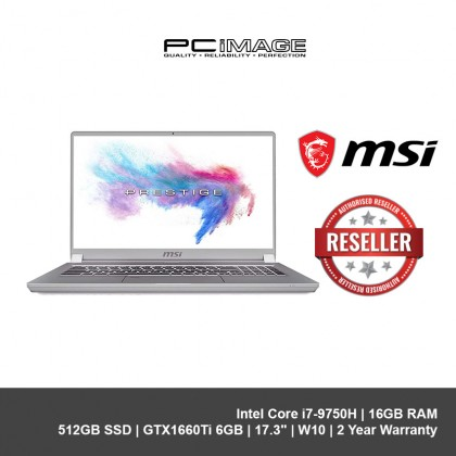 "MSI P75 CREATOR 9SD-638MY,INTEL CI7-9750H+HM370,8GBX2,512GB SSD,GTX1660TI 6G,17.3"",W10 NOTEBOOK-BLACK"