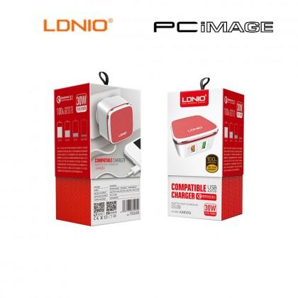 LDNIO A2405Q USB 1 PORT + 1 QC 3.0 CHARGER 4.2A