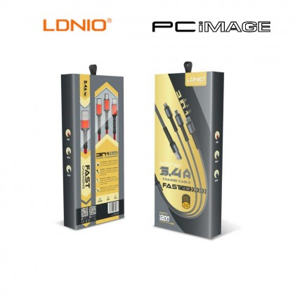LDNIO LC93 3 IN 1 FAST CHARGE CABLE 1.2M 3.4A - GREY