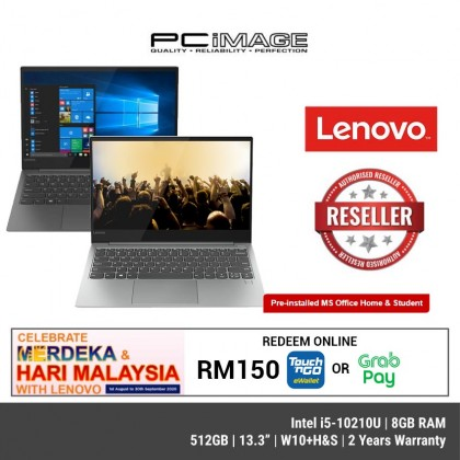 "LENOVO Yoga S730-13IML ( 81U4000MMJ - Iron Grey / 81U4000NMJ- Platinum ) 13.3"" FHD IPS Laptop ( I5-10210U, 8GB, 512GB, W10+H&S, 2YRS )"