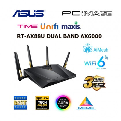 ASUS RT-AX88U DUAL BAND AX6000 802.11AX SMART WI-FI ROUTER