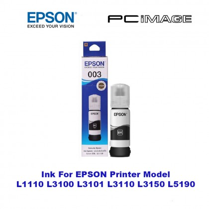 Epson Original 003 (BKCMY) Refill Ink Bottle L1110/L3110/L3150/L5190