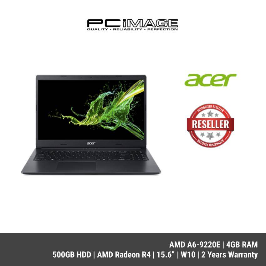 Acer Aspire A315 22 616z Amd A6 9220e 4gb Ddr4 500gb Amd Radeon R4 15 6 Hd W10 2yrs Black Pcimage