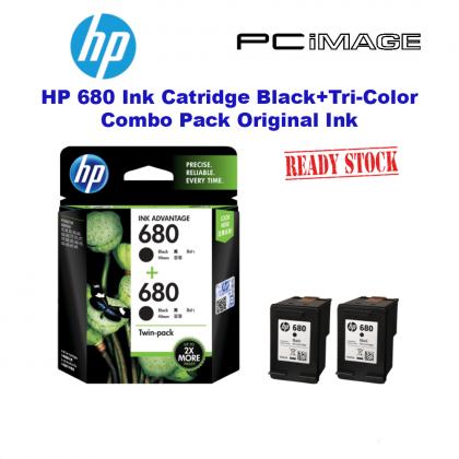 HP 680 BLACK INK CARTRIDGE TWIN PACK Original Ink Advantage: 2135 / 2676 / 3635 / 3775