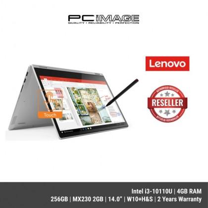 """LENOVO Ideapad C340-14IML 81TK0022MJ 14"""" FHD IPS Touch Laptop- Platinum ( I3-10110U, 4GB, 256GB, MX230 2GB, W10+H&S, 2YRS )"""