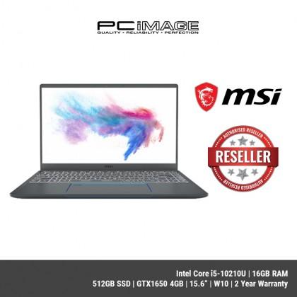 """MSI Prestige 15 A10SC-076 15.6"""" FHD Laptop ( I5-10210U, 16GB, 512GB SSD, GTX1650 4GB, W10 )"""