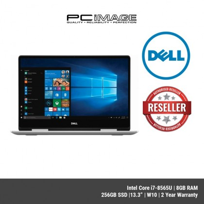 "DELL Inspiron 13 7386T-8582SG 13.3"" 2in1 Laptop-Silver (i7-8565U, 8GB, 256GB, Win10)"