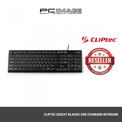 CLIPTEC RZK247 KLASSIC USB STANDARD KEYBOARD-BLACK