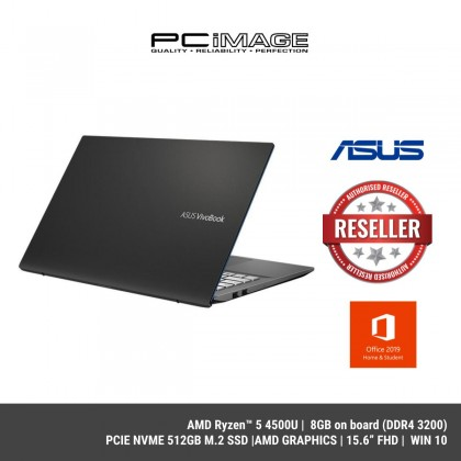 ASUS VIVOBOOK S M433I-AEB008TS (AMD Ryzen™ 5 4500U , 8GB on board,512GB M.2 SSD,14.0' FHD,AMD Radeon™ Graphics,W10,H&S)-Indie Black