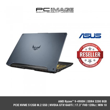 "[ COMING SOON ] ASUS TUF FA706I-UH7078T (AMD Ryzen™ 9-4900H,8GB,PCIE 512GB M.2,GTX1660Ti 6GB,17.3"" FHD 120Hz,W10)-Metal Fortress Gray with RGB Keyboard"