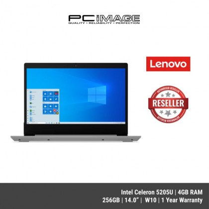 "LENOVO Ideapad 3-14IML05 ( 81WA003CMJ- Platinum Grey/ 81WA003BMJ- Cherry Red) 14"" Laptop- ( CEL5205U,4GB,256GB,UMA,W10,1Y )"