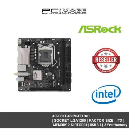 ASROCK SOCKET LGA1200 B460M-ITX/AC ITX MOTHERBOARD