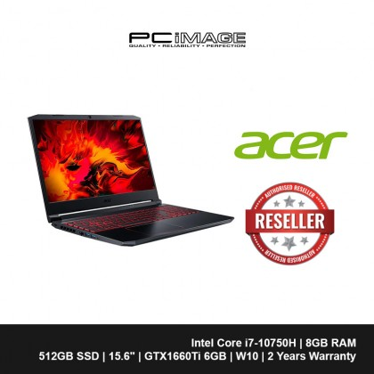 "ACER Nitro 5 AN515-55-79CU 15.6"" Gaming Laptop-Black (i7-10750H, 8GB, 512GB, GTX1660Ti, Win10)"