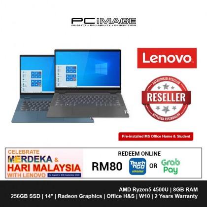 "LENOVO Ideapad Flex5 81X2006RMJ/SMJ 14"" Laptop-Graphite Grey/Light Teal (Ryzen5-4500U, 8GB, 256GB, Win10, H&S)"