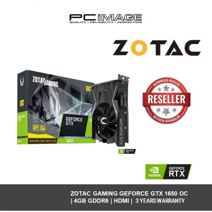 ZOTAC GAMING GEFORCE GTX 1650 OC 4GB DDR6 - ZT-T16520F-10L