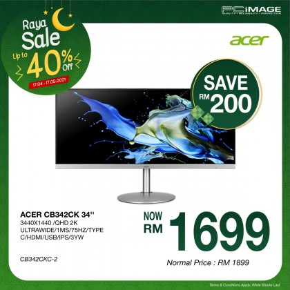 "ACER CB342CK 32"" QHD 2K Ultrawide Monitor"