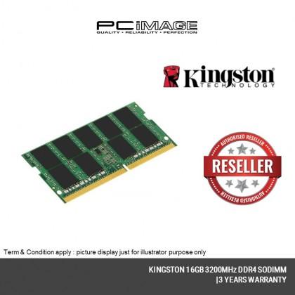 KINGSTON 16GB 3200MHz DDR4 Non-ECC CL22 SODIMM - KVR32S22D8/16