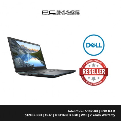 "DELL G3-3500-7585GTX6G-FHD 15.6"" Gaming Laptop - Black (i7-10750H, 8GB, 512GB, GTX1660Ti, Win10)"