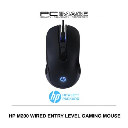 HP M200 USB Wired Optical Gaming Mouse (Black)