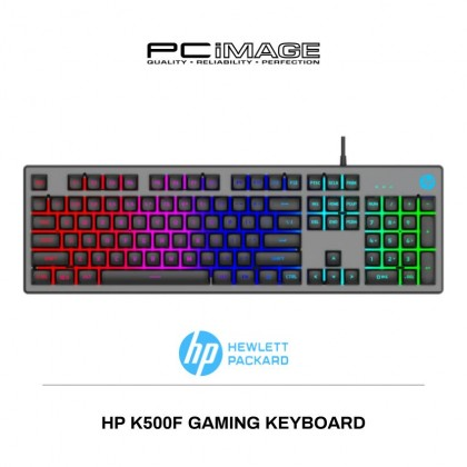 HP K500F - Gaming Keyboard with LED back lit (Gun Metal)
