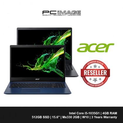 "ACER Aspire 3 A315-57G-57L2/541R 15.6"" Laptop-Black/Blue (i5-1035G1, 4GB, 512GB, Mx330, Win10)"
