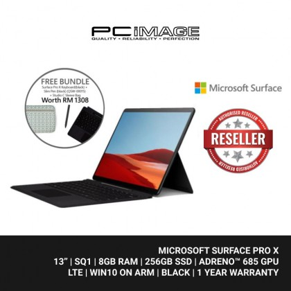 Microsoft Surface Pro X SQ1 / 8GB / 256GB + FREE Bundle