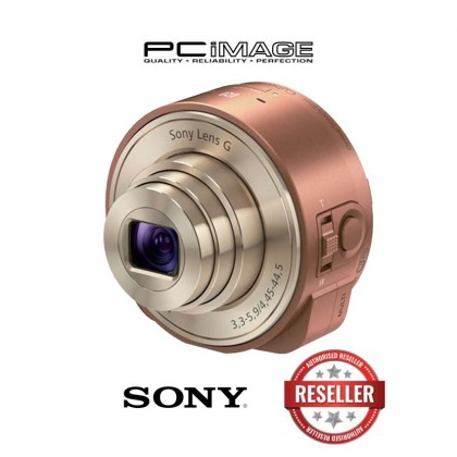 Sony DSC-QX10/TC Smartphone Attachable 4.45-44.5mm Lens-Style Camera (Copper)