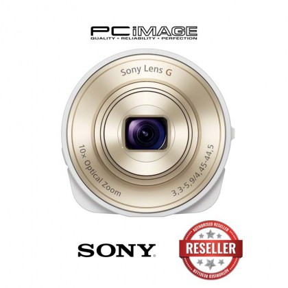 Sony DSC-QX10/WC Smartphone Attachable 4.45-44.5mm Lens-Style Camera (White)