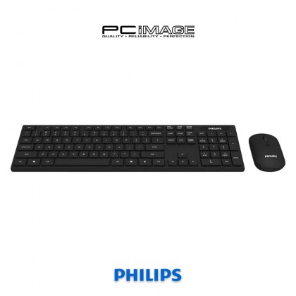 PHILIPS SPT6103 Wireless Keyboard Mouse Combo - Black