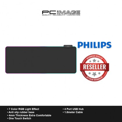 PHILIPS SPL7304 Wired RGB Gaming Mouse Pad (80x32cm)