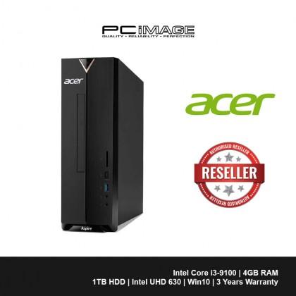 ACER Aspire XC886-9100W10A Desktop PC (i3-9100, 4GB, 1TB, Win10)
