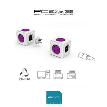 Allocacoc PowerCube Original ReWirable 1841 IEC Cable 1M - Purple