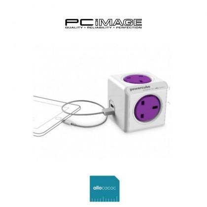 Allocacoc PowerCube ReWirable USB Travel Plugs - 1851 IEC Cable Purple