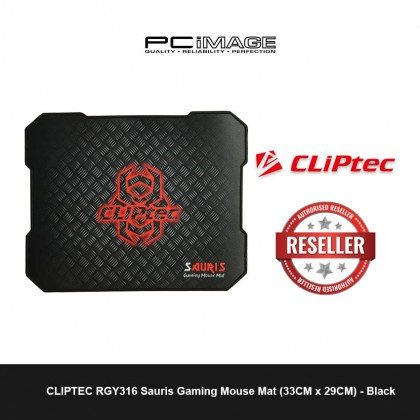 CLIPTEC RGY316 Sauris Gaming Mouse Mat (33CM x 29CM) Medium - Black