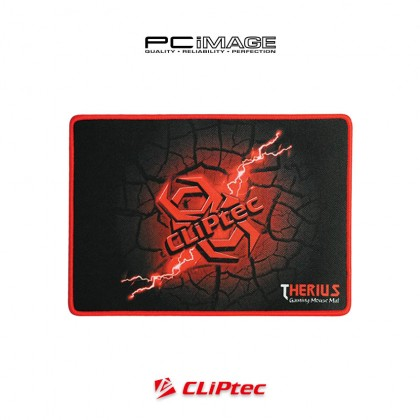 CLIPTEC RGY358 Therius Gaming Mouse Mat (44.5CM x 35.5CM) Large - Black
