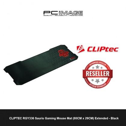 CLIPTEC RGY336 Sauris Gaming Mouse Mat (80CM x 29CM) Extended - Black