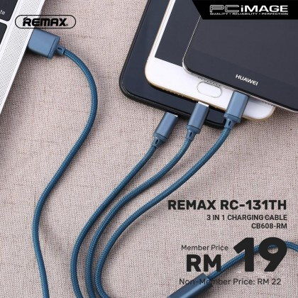 REMAX RC-131TH Gition Series 3in1 2.8A Charging Cable