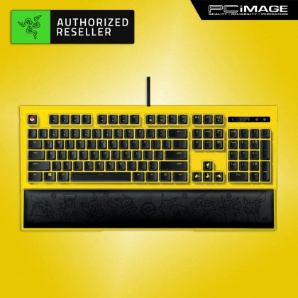 RAZER Pokemon Pikachu Limited Edition Backlit Mechanical Membrane Keyboard