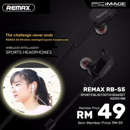 REMAX RB-S5 Sports Bluetooth Headset - White