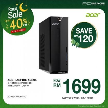 ACER Aspire XC895-10100W10 Desktop PC (i3-10100, 4GB, 1TB, Win10)