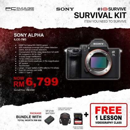 Sony a7 III / ILCE-7M3 Interchangeable-Lens Camera Body Only