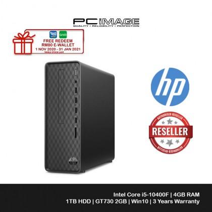 HP DESKTOP SLIM S01-PF1139D (i5-10400F, 4GB, 1TB HDD, GT730, W10, WIRED KB+M)