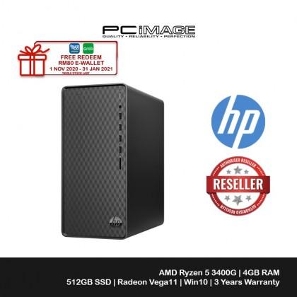 HP M01-D0204d Desktop PC (Ryzen 5 3400G, 4GB, 512GB SSD, ATI, W10, Office H&S)
